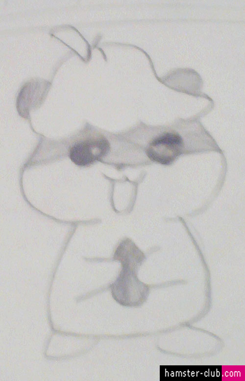 Hamster Drawing of Cappy of Hamtaro